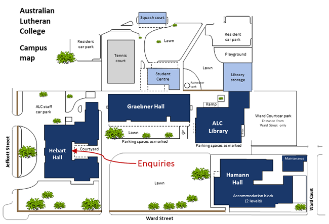 ALC campus map enquiries